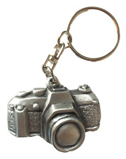 Camera Handcrafted In Solid English Pewter Key ring Hin-KR1183