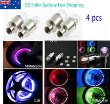4x Flashing Neon LED Light Car Motorbicycle Bicycle Wheel Valve Stem Cap