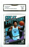 Ja Morant 2019 Donruss #17 Great X-Pectations Rookie Card RC PSA GMA 10 MINT
