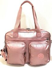 Kipling Sasha Carry-on Travel Tote Bag Luggage Weekender Icy Rose Metallic NWT