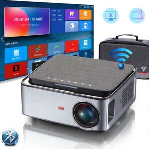 """7500 Lumen 1080p FULL HD Android Projector WIFI Bluetooth 100"""" Screen Carry Bag"""