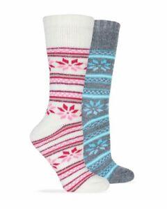 Wise Blend Ladies Merino Wool Blend Floral Frost Socks 1 Pair