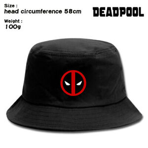 Marvel Deadpool Buckets Hat Caps Snapbacks Black Outdoor Print Cartton Hat