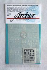 Archer 1/35 1/48 1/72 Waffen-SS Panzer/Panzergrenadier Unit Markings #1 AR35090