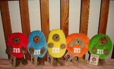Boyds Bears Set of 5 M&M Peeker Plush~Red, Blue, Yellow, Orange and Green