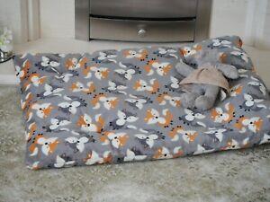 handmade dog bed/cushion 2 sizes machine washable super soft