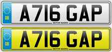 CHERISHED NUMBER PLATE - A716 GAP - GAP TEETH DENTIST CHEAP GAP NUMBER GAP GAP
