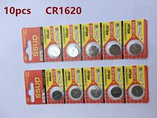 10pcs CR1620 Button Cell Battery Coin Lithium Battery 3V Watches Toy Calculator