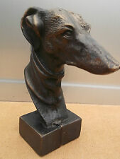 Lovely cast of a GREYHOUND with a terrific Bronze finish. Mick the Miller?? (vo)