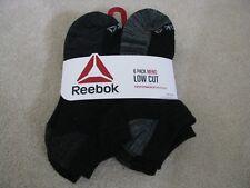 Reebok Mens Low Cut Socks 6 Pair Black Grey Size 10-13
