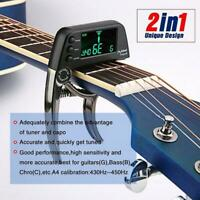 Folk Acoustic Guitar Capo Electronic Tuner Combo Guitar Accessories Tuner