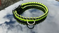Black & Green Paracord 550 Dog Collar 37cm handmade. Other sizes made by request