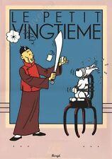 Affiche Sérigraphie Hergé Tintin Le Lotus Bleu 35x50 cm