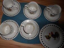 14 Teile Kaffeegeschirr R & B Hahn und Henne