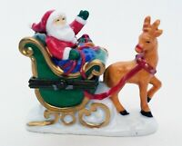 Midwest of Cannon Falls Trinket Box Santa Claus in Sleigh with Reindeer