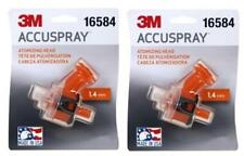 2-3M 16584 1.4MM Accuspray Atomizing Heads Single Orange Spray Gun Tip (2 Tips)