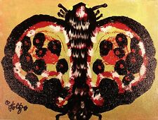 Modernist ABSTRACT Expressionist Wall ART Painting BUTTERFLY INSECT CHASER FOLTZ