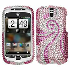 Pink Tail Crystal Bling Case Cover HTC myTouch 3G Slide