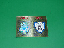 PANINI FOOTBALL FOOT 90 N°365 BADGES ECUSSONS AVIGNON SC BASTIA SCB 1989-1990