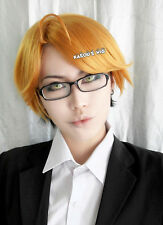 Black Butler Kuroshitsuji Ronald golden-black short side parted cosplay wig