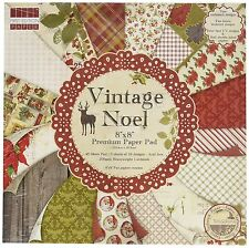 """Bargain -First Edition 8 x 8-inch  Vintage Noel 48 X  8"""" x 8"""" Papers for crafts"""