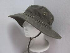 New S/M Corduroy Boonie Hat - UPF50+ - Olive Green - 55-56cm