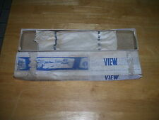 1960s 1970s NOS Panoramic Wide Rear View Mirror Universal GM MoPar Ford Chevy
