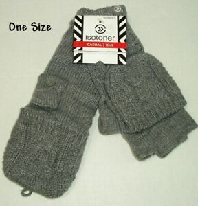 Womens Convertible Mittens Fingerless Gloves One Size Adult Active Warm Winter