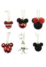 disney minnie mickey mouse christmas tree decorations 6 baubles primark