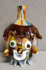 Vintage Clown Murano  Italian Glass Vase Bottle