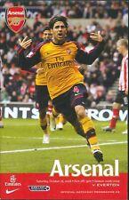 Football Programme - Arsenal v Everton - Premiership - 18/10/2008