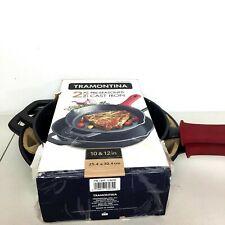 Tramontina Cast Iron Skillets 2-Pack Pre-seasoned 12&10 inch Grill Skillet Set