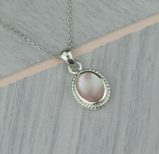 Sterling Silver May Taurus Birthstone Pendant Necklace In Rose Quartz Colour