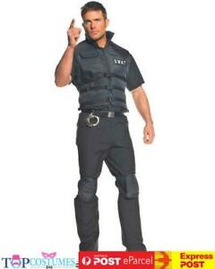 SWAT Adult Costume Mens Police Special Ops Military Fancy Dress Halloween