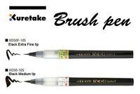 ZIG Kuretake Japanese calligraphy brush pen: No. 24 Fine Black (Pigment ink)