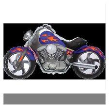 "GIANT 45"" FOIL BALLOON - MOTOR BIKE CYCLE HARLEY CHOPPER - WHOLESALE - BLUE"