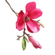 1X Artificial Fake Flowers Leaf Magnolia Floral Wedding Bouquet Party Home Decor