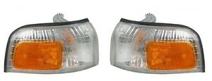 CORNER LAMP LIGHT LEFT AND RIGHT PAIR SET FITS 1990 1991 HONDA ACCORD