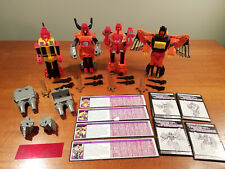 Transformers G1 Predacon Lot - Tantrum, Rampage, Headstrong, Divebomb complete