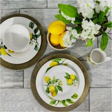 Lemon Dinnerware Collection Set of 12 Dinner Plates Salad Bowl Mug Glass