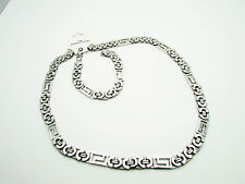 Stylish Thick Silver StainlessSteel Quality Set Necklace&Bracelet  Unisex