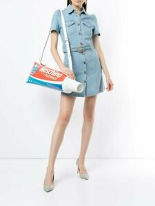 $2257 AW19 Moschino Couture Jeremy Scott OVERSIZED HUGE TOOTHPASTE SHOULDER BAG