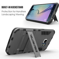 Hybrid Armor Case with Kick Stand +Tempered Glass Screen For Galaxy S7 / Edge
