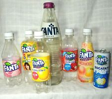 7 Piece/Set  Fanta Empty Bottle & Cans From Japan Free Sipping