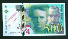 EXCEPTIONNEL SPÉCIMEN DU 500F PIERRE ET MARIE CURIE 1994 NEUF !!!