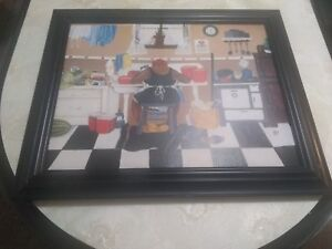 Annie Lee Sixty Pounds CANVAS FRAMED Picture 24 by 18..