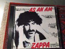 FRANK ZAPPA As An Am Steve Vai CD Limited Edition Number 483 w/typos RARE
