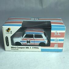 1/50 TINY DIE-CAST  - Mini Cooper Mk1 1990s Hong Kong Red White Bl 7-11 ATC64753