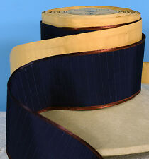 """2.25"""" (57 mm) French Rayon Navy Raised Ribbed Ribbon (BTY)"""