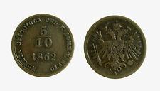 s421_8) LOMBARDO VENETO 1/2 SOLDO 1862 VIENNA FRANCESCO GIUSEPPE I
